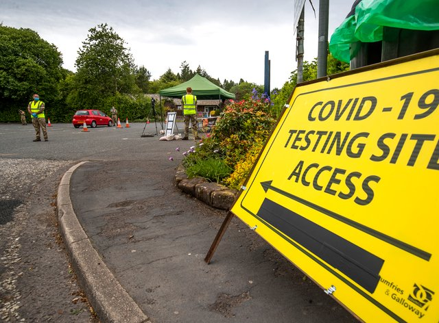 Covid-19 testing site sign