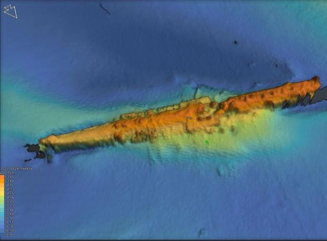 Sunken submarine surveyed