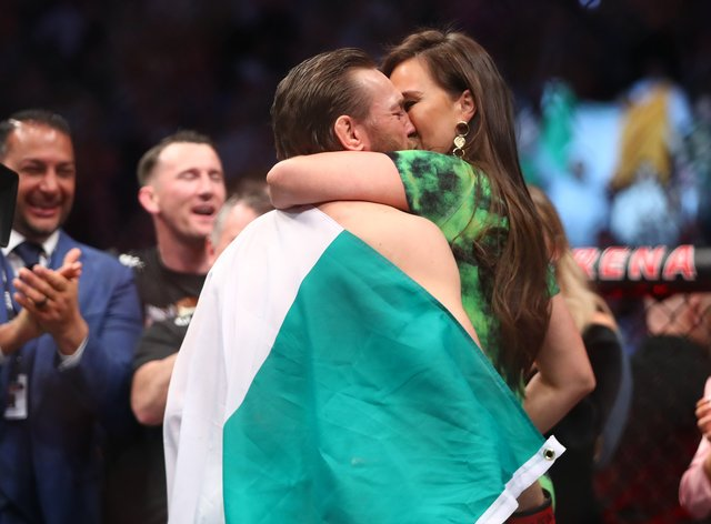 McGregor revealed the pair were engaged on Saturday afternoon