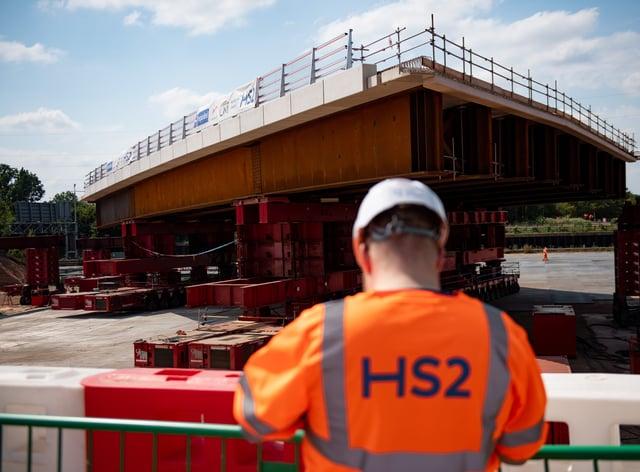 HS2 bridge installed