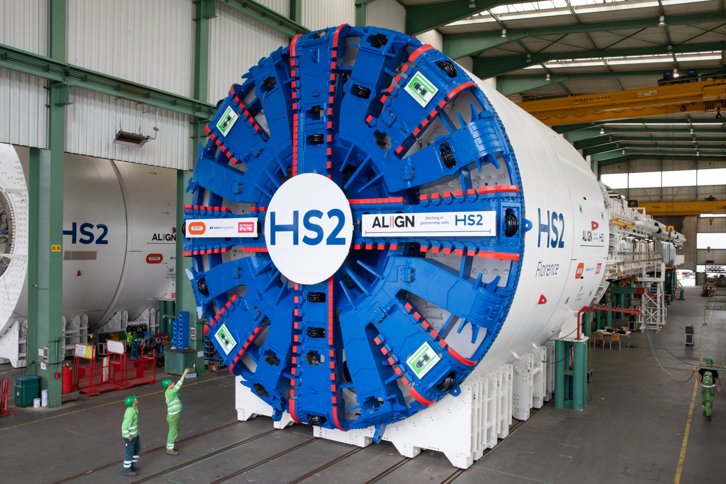HS2 unveils German machines that will dig tunnel under Chilterns