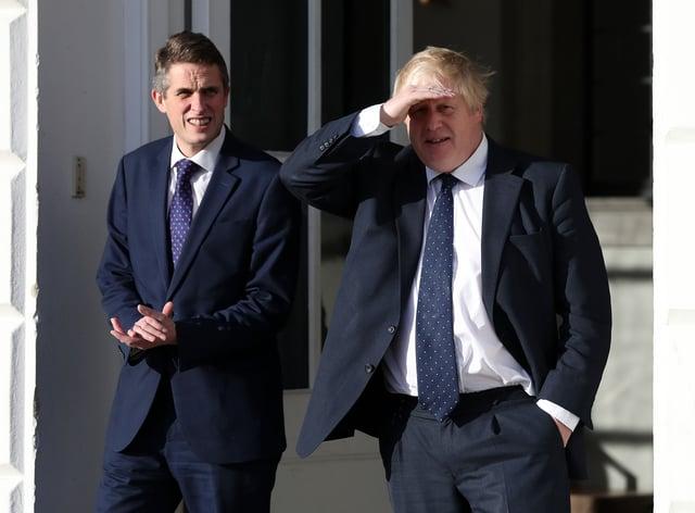 Boris Johnson and Gavin Williamson