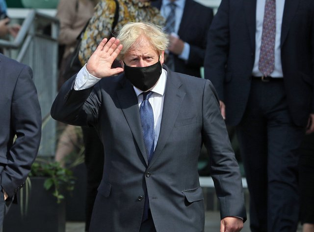 Boris Johnson in Belfast