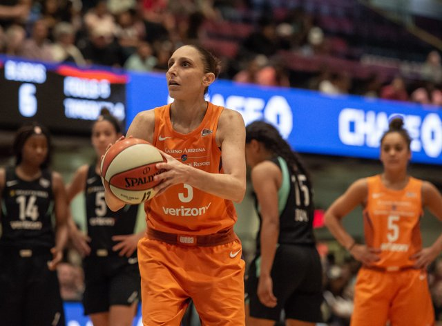 WNBA star Diana Taurasi returned to the court over the weekend