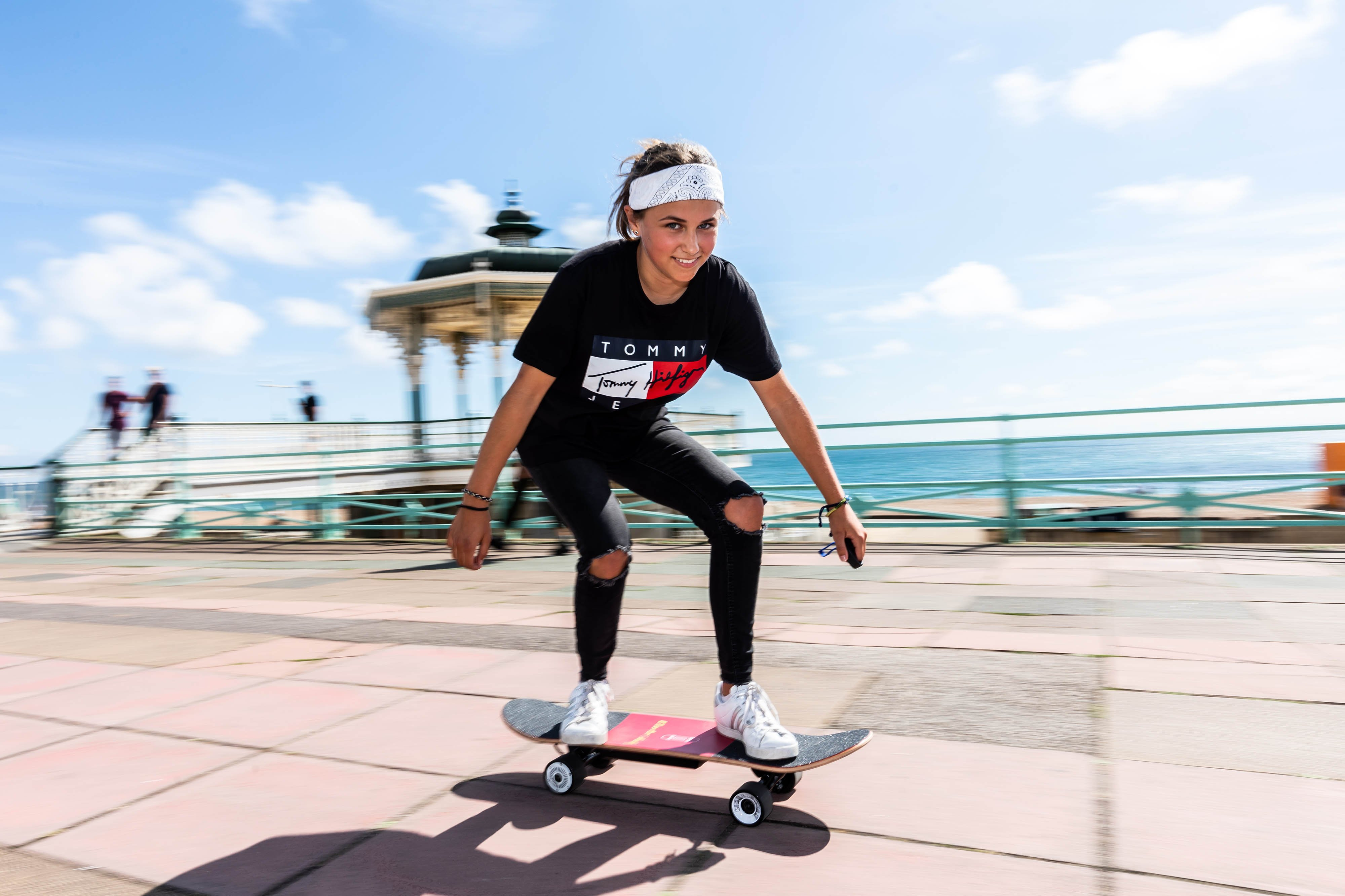 Charlotte Geary, 13, wins award for invention which could reshape skateboarding