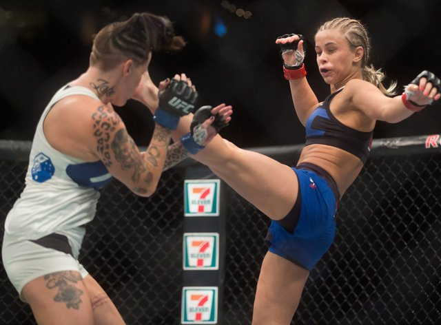 Paige VanZant (right) has her plastic surgeon on 'speed dial'