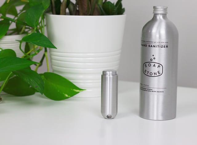 Eco-friendly hand sanitiser dispenser