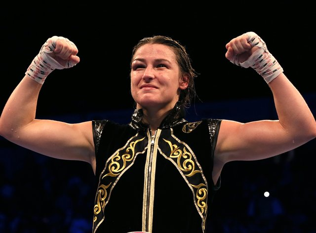 Katie Taylor retained her world lightweight titles with a points victory over Delfine Persoon (Richard Sellers/PA)