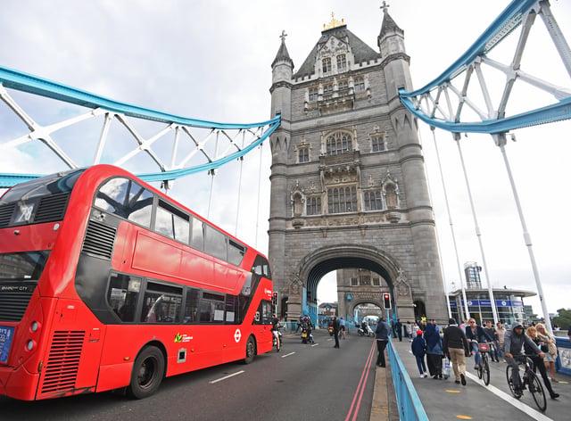 Tower Bridge stuck open