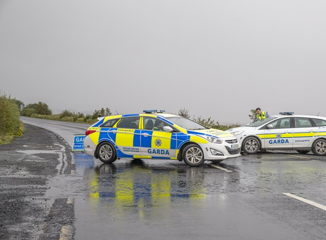 Garda at the scene of the incident