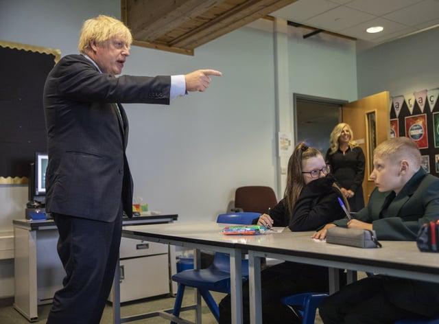 Boris Johnson visits Castle Rock School