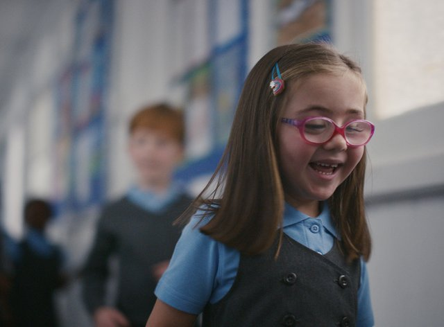 Nell Sutton featuring in the new Guide Dogs advert