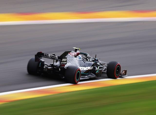 Mercedes driver Valtteri Bottas in action during first practice