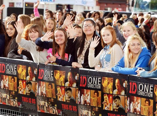 Fans at a movie premiere