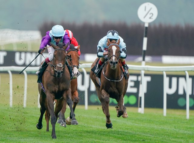 Alcohol Free (left) goes for Group Three glory at Salisbury
