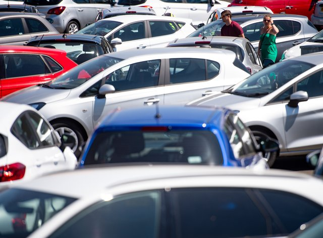 Demand for new cars fell by around 5% last month, preliminary figures show (Jacob King/PA)