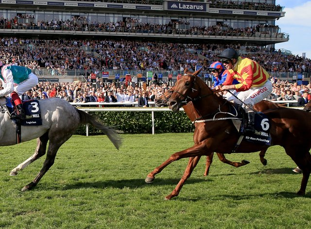 Last year's St Leger winner Logician (left) could make his comeback at Doncaster