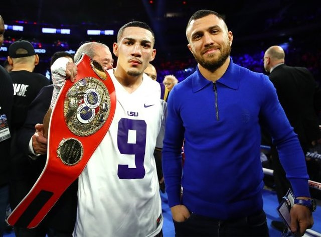 Lopez (left) and Lomachenko (right) will clash for all the belts in the 135 pound division next month