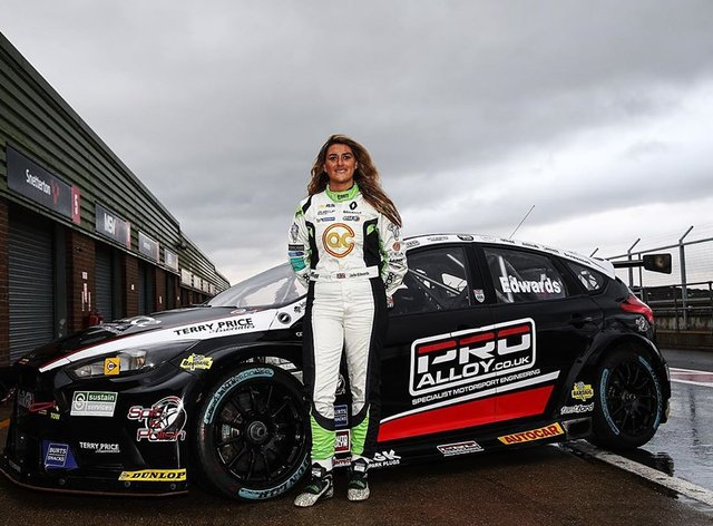 Jade Edwards is set to take to the track ahead of the BTCC