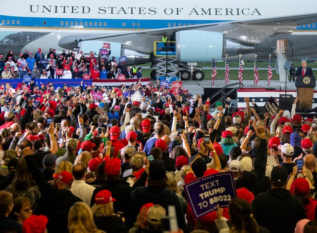 Trump spoke at a rally in Michigan on Thursday