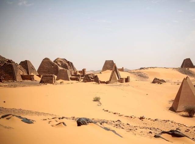 The Meroe pyramids site in Sudan