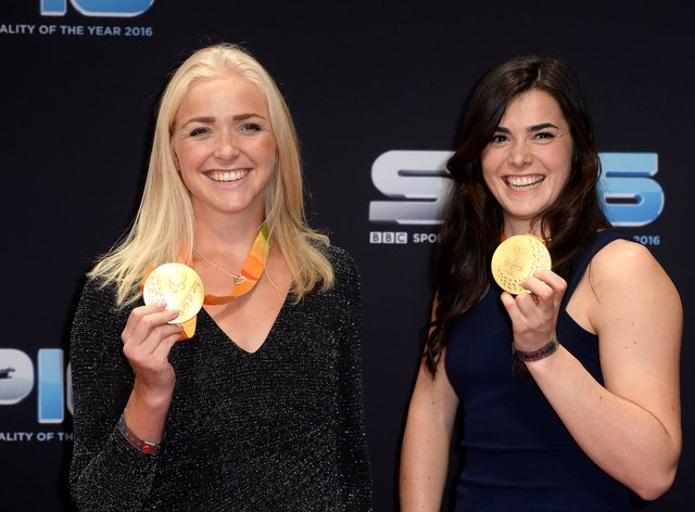 Grace Clough (right) is stepping away from international rowing