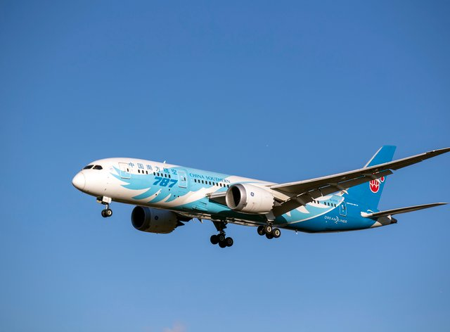 A China Southern Airways Boeing Dreamliner 787 (Steve Parsons/PA)