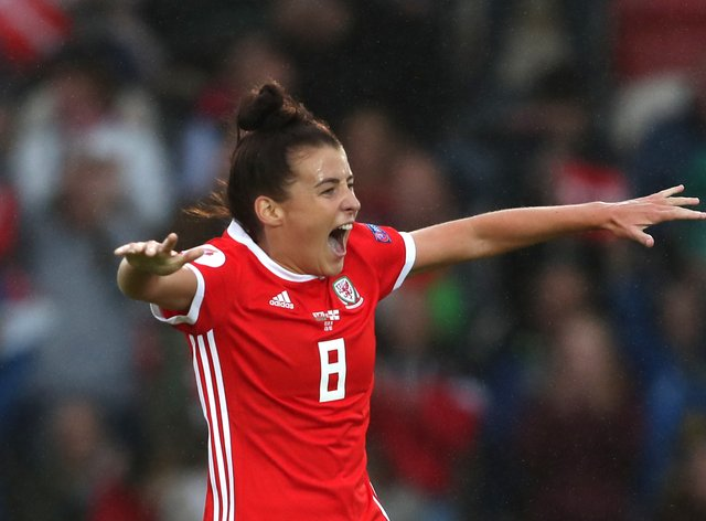 Wales's Angharad James will hoping to make an appearance in her country's qualifier against Norway