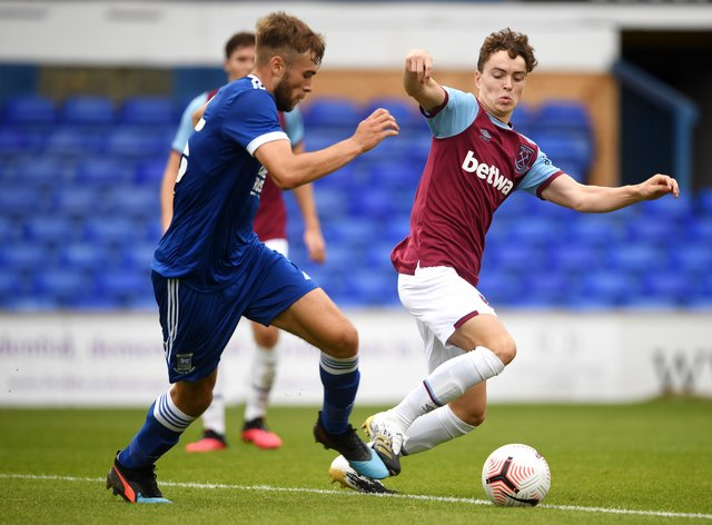 Ipswich's Aaron Drinan, left, is expected to miss the match against Fulham through injury