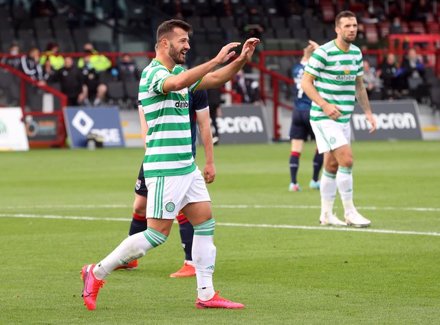 Albian Ajeti quickly on the goal trail at Celtic