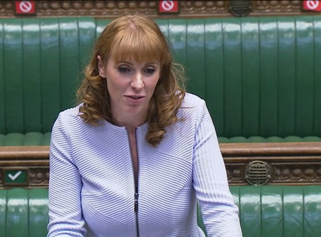 Deputy Labour leader Angela Rayner speaks during Prime Minister's Questions in the House of Commons