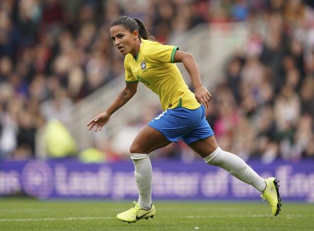 Debinha has nearly 100 caps for Brazil