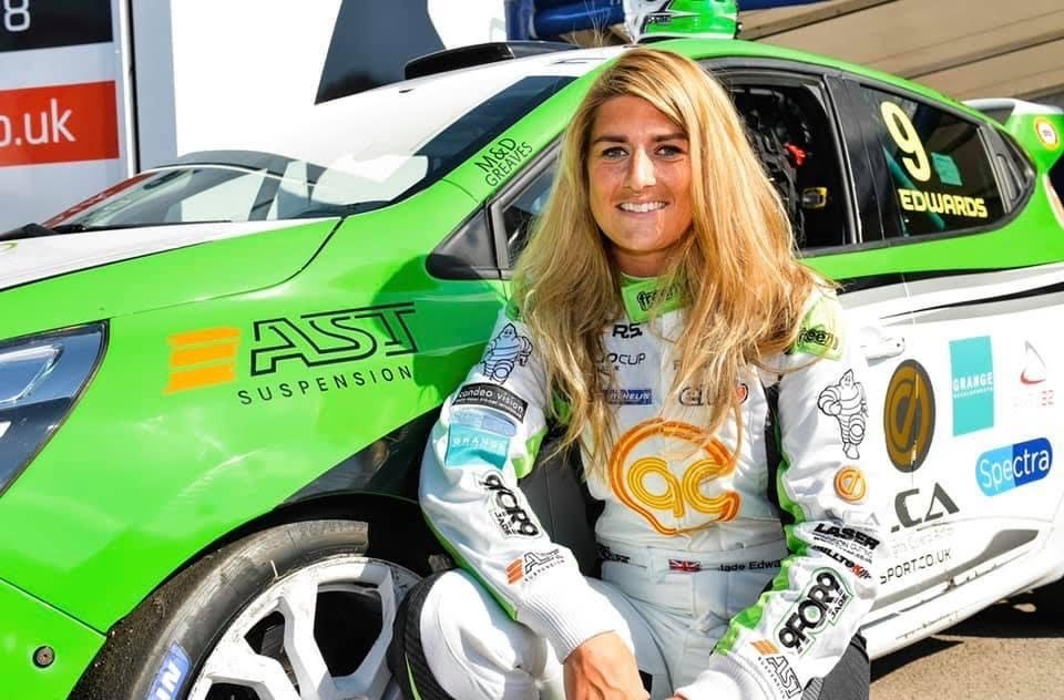 Jade Edwards is the first female to race in the BTCC in over a decade