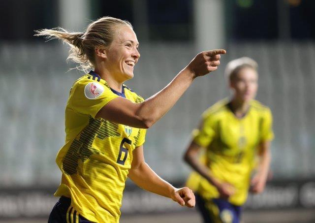 Magdalena Eriksson scored for Sweden last night