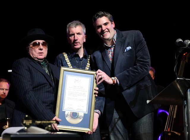 Van Morrison has called for an end to measures which he says 'enslave' people