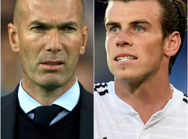 Zinedine Zidane (left) insists there has never been a personal issue with Gareth Bale