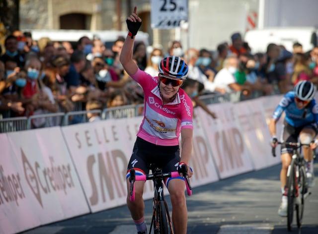 Van der Breggen profited from compatriot Annemiek van Vleuten abandoning two days ago