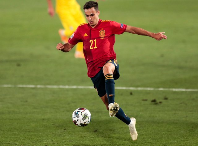 Sergio Reguilon made his debut for Spain earlier this month