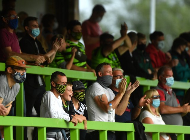 Forest Green hosted one of seven EFL games which admitted supporters on Saturday