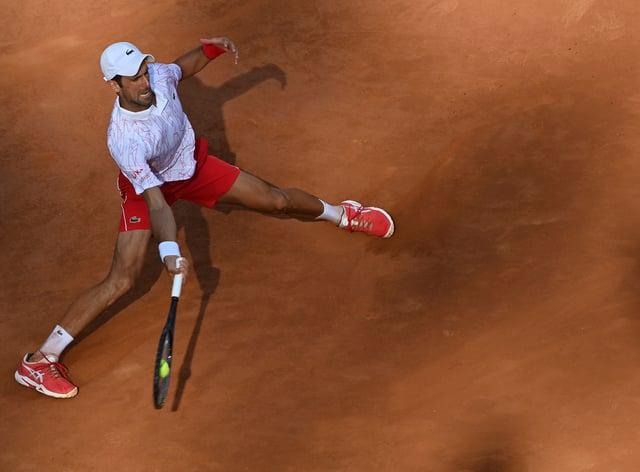 Novak Djokovic has made it through to the final of the Italian Open