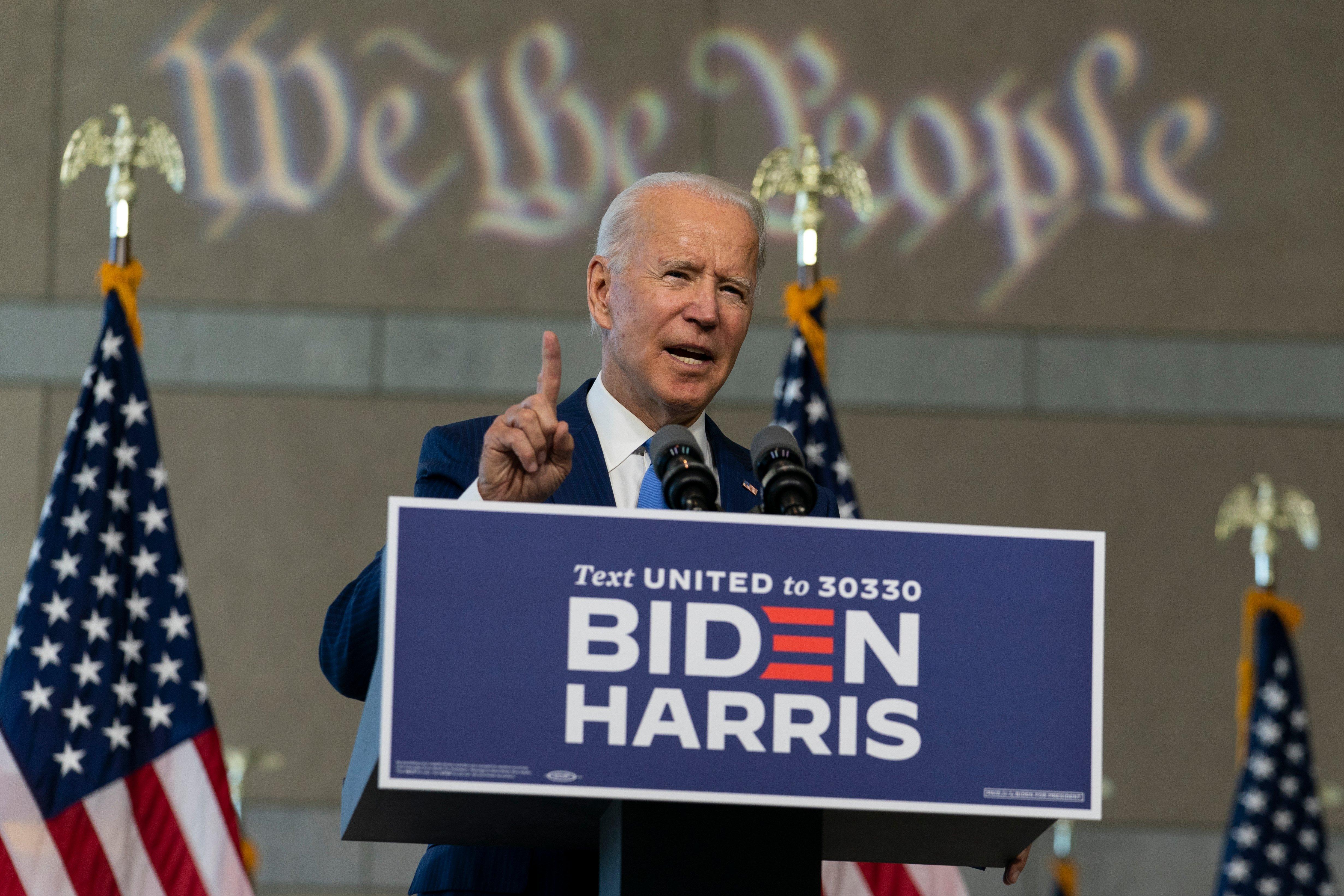 Biden urges Republican senators not to push through a Ginsburg nominee