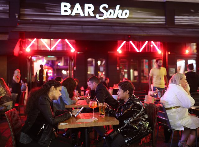 Late-night drinkers after 10pm in Soho