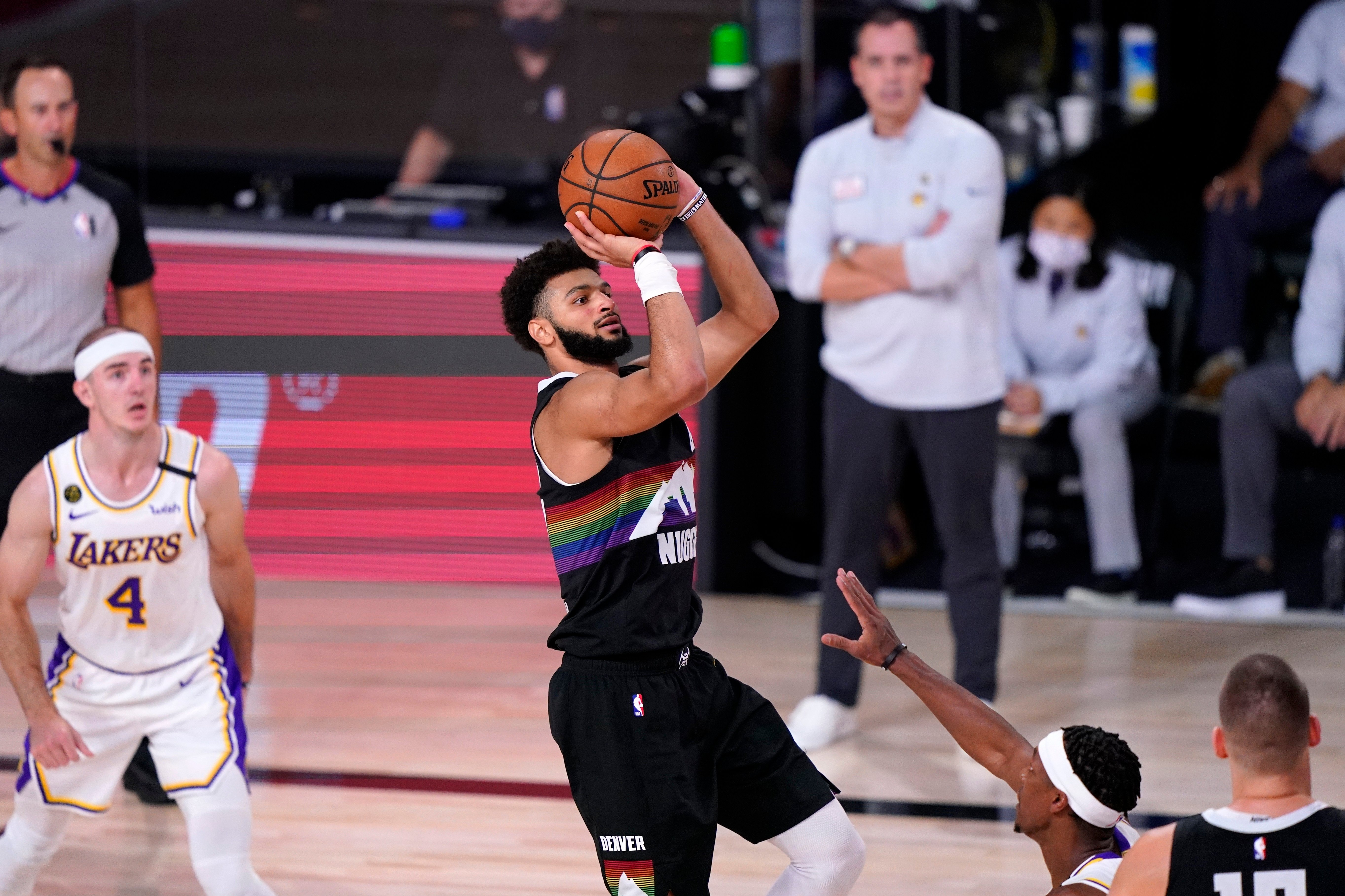 Jamal Murray leads the Denver Nuggets to win over the LA Lakers