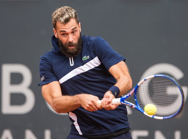 Benoit Paire retired during the second set of his clash with Casper Ruud in Hamburg