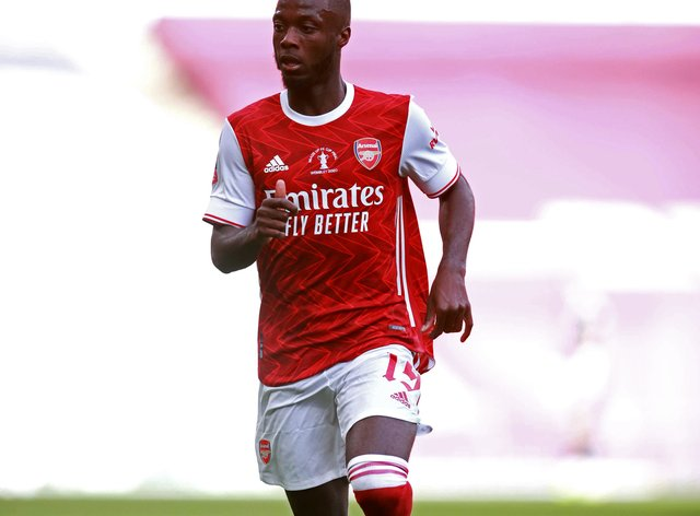 Nicolas Pepe became Arsenal's record signing when he joined from Lille last summer.