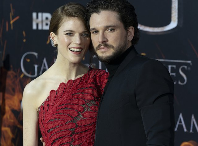 Leslie and Harington met on the set of Game of Thrones