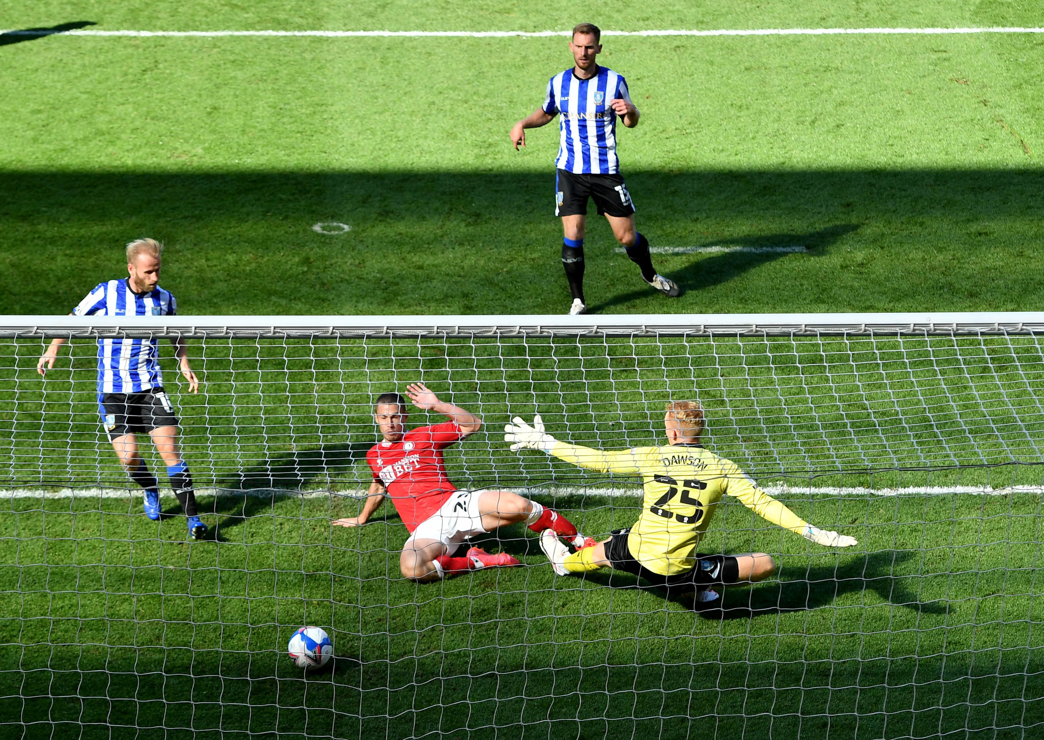 Bristol City share top spot in Championship after third straight win
