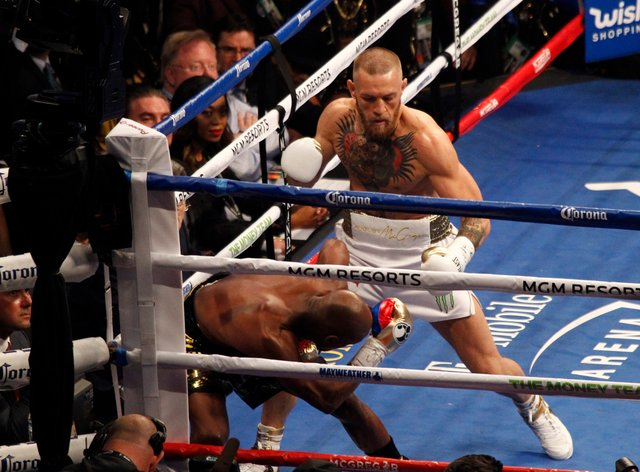 McGregor made his professional boxing debut in 2017 against Floyd Mayweather