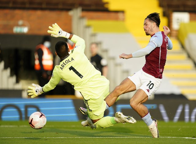 Aston Villa's Jack Grealish scored his first Premier League goal of the season in a 3-0 win over Fulham