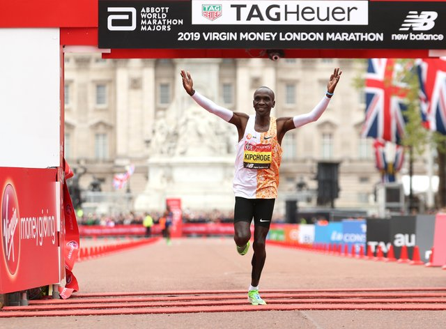 World record holder Eliud Kipchoge is hoping to defend his title in London